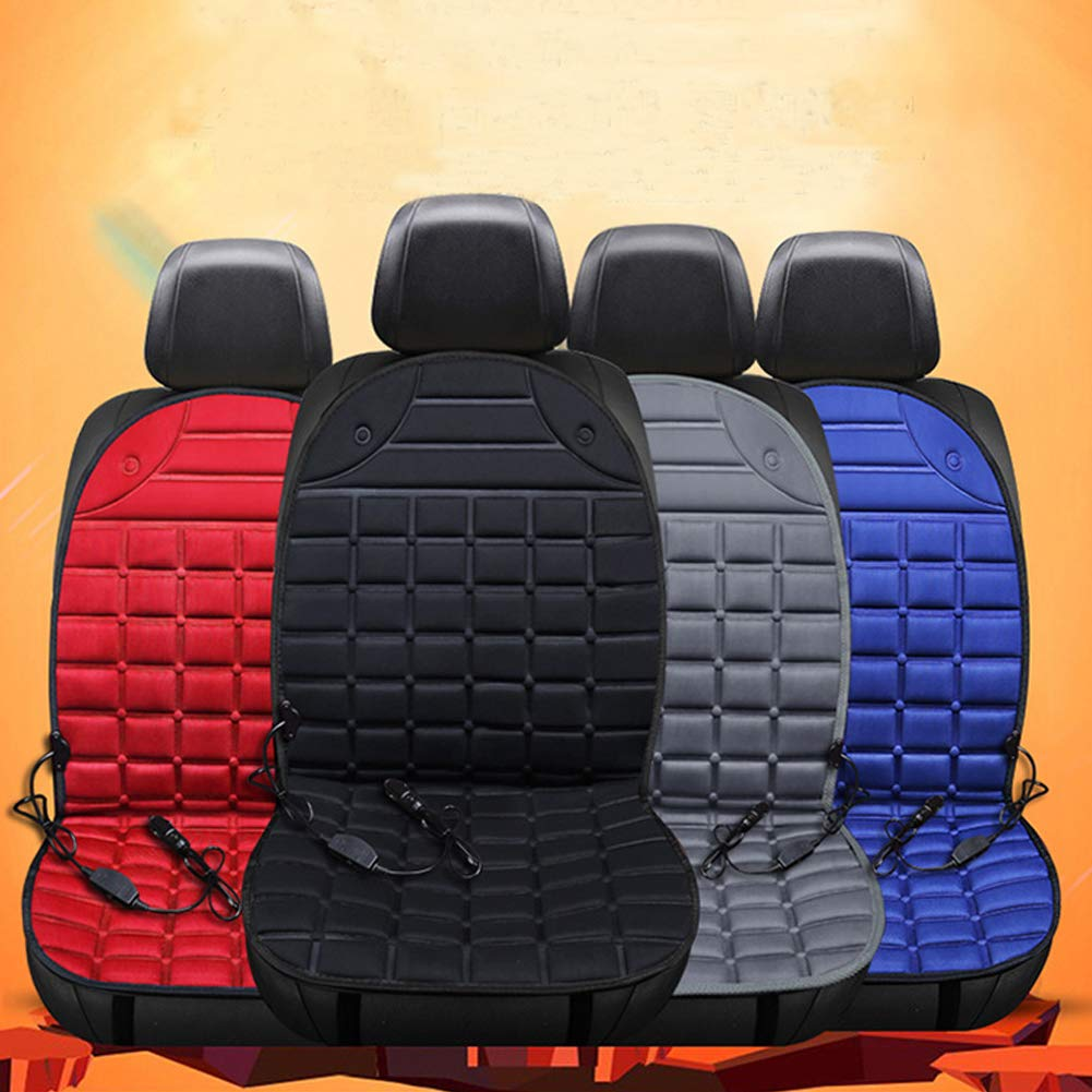Xdffy 12V Auto Riscaldato Sede Copertina Ispessimento Caldo Caldo Cuscino Pad per Freddo Tempo e Inverno Guida Nero