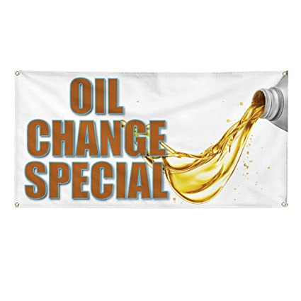 Oil Change Special >> Amazon Com Vinyl Banner Sign Oil Change Special 1 Style B