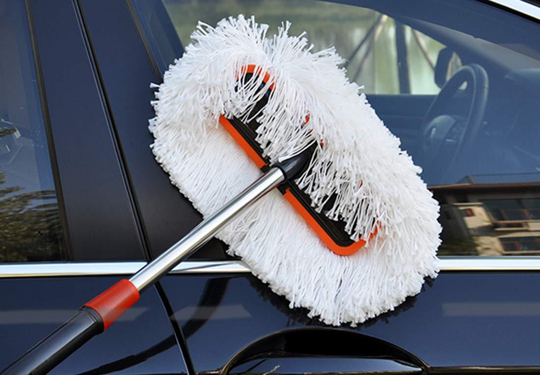 AaSue Ultra Pl/üsch Teleskop Mikrofaser Auto Waschb/ürste Outdoor Mop Lange Griff Auto Reinigung Wischmop Caravan Reichweite abnehmbare Autowaschb/ürste