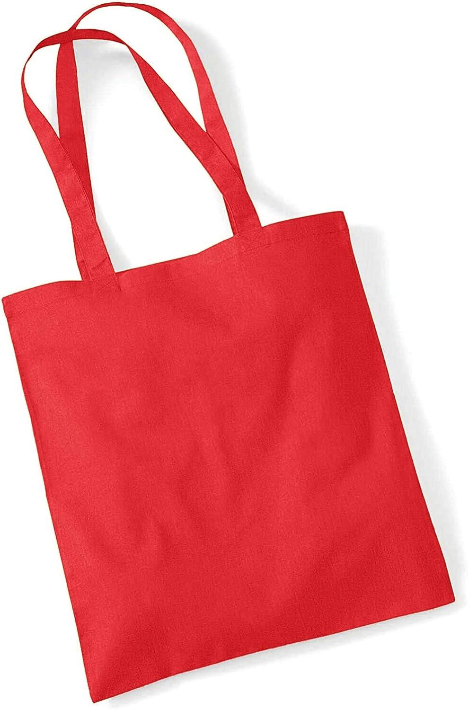 s/érigraphie Id/éal pour travaux manuels Westford Mill Sac /à main en toile Disponible en 29 couleurs - Rouge