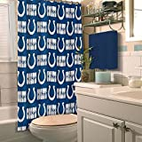 Northwest NFL Indianapolis Colts Shower Curtain Football Bathroom