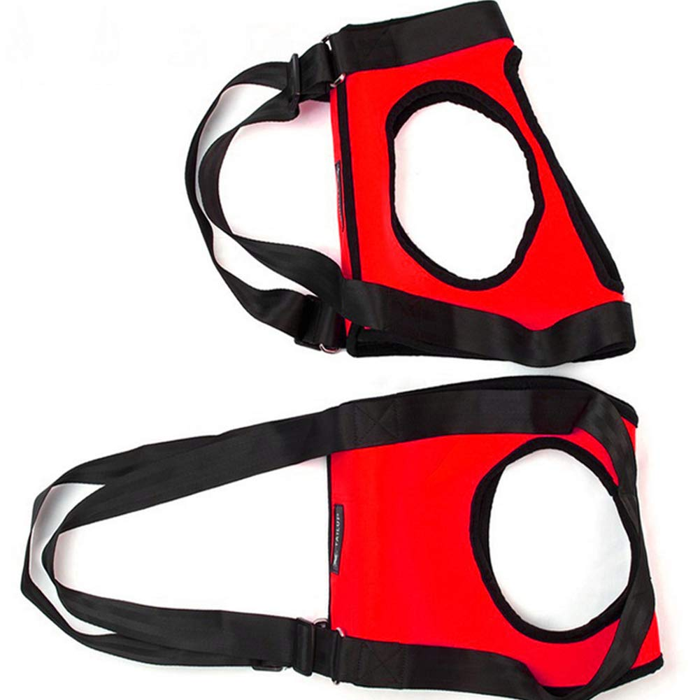 Red Small Red Small Dog Harness Front Clip Vest Harness Medium and Large Aged Dogs, Disabled Dogs, Injured Dogs, Special Auxiliary Belt, Single Shoulder, Back and Pull Belt, pet Dog Training Belt