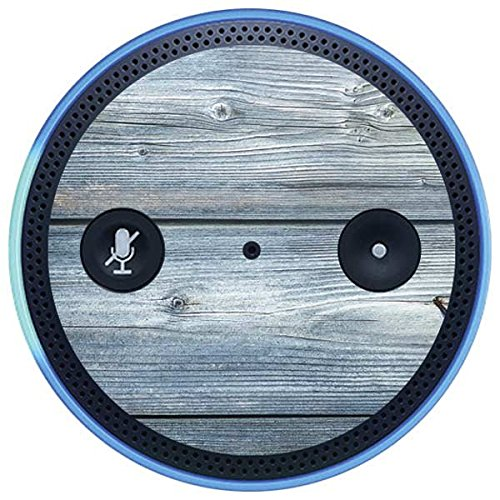 Skinit Wood Amazon Echo Plus Skin - Weathered Blue Wood Design - Ultra Thin, Lightweight Vinyl Decal Protection
