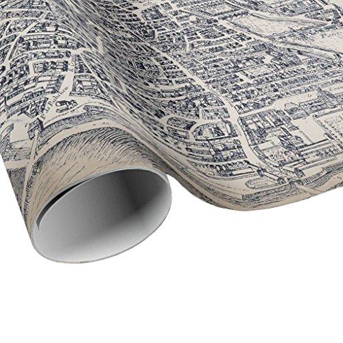 Vintage Plan de Paris Gift Wrap - Paris France City Map Wrapping Paper - Gift Paper - Craft Decoupage Paper - Collage Paper