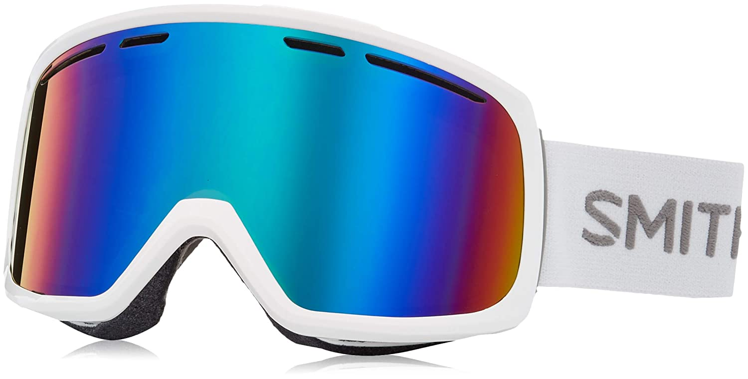 0809133b7b8 Amazon.com   Smith Optics Range Snow Goggles White with Green Sol-X Mirror  lens   Sports   Outdoors