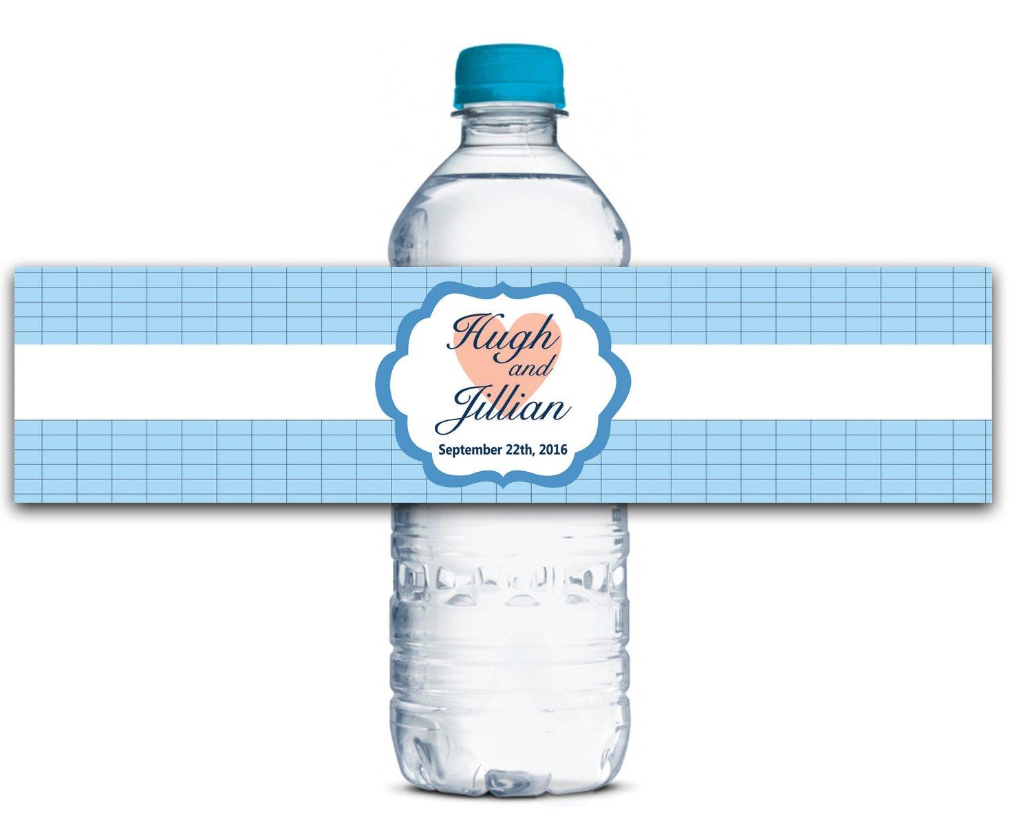 Personalisierte Wasserflasche Etiketten Selbstklebende wasserdichte Kundenspezifische Hochzeits-Aufkleber 8  x x x 2  Zoll - 50 Etiketten B01A0W17R2   Sehen Sie die Welt aus der Perspektive des Kindes  a009fe