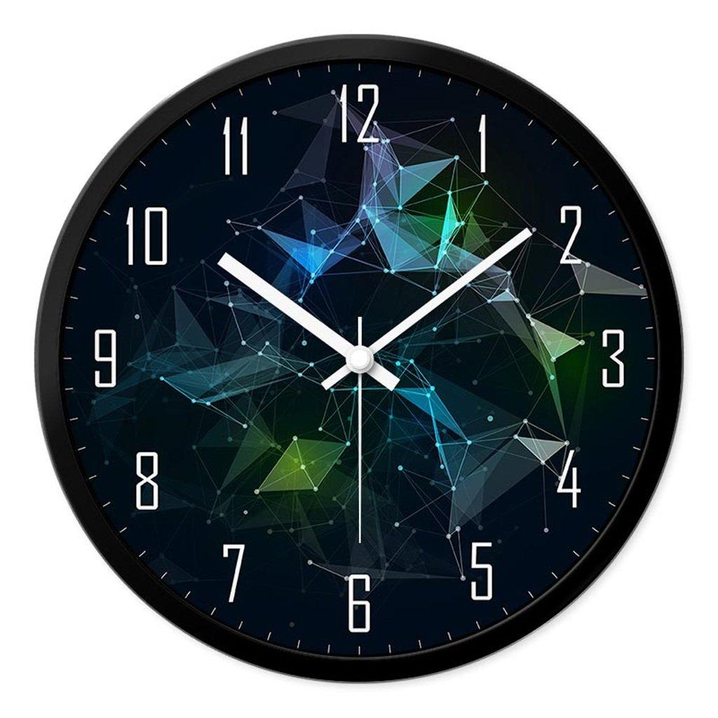 リビングルームクリエイティブファッション装飾時計ベッドルームミュートラウンドモダンパーソナリティファッションシンプルなガラスクォーツ時計の腕時計 (サイズ さいず : L l) B07CYT72FP L l L l