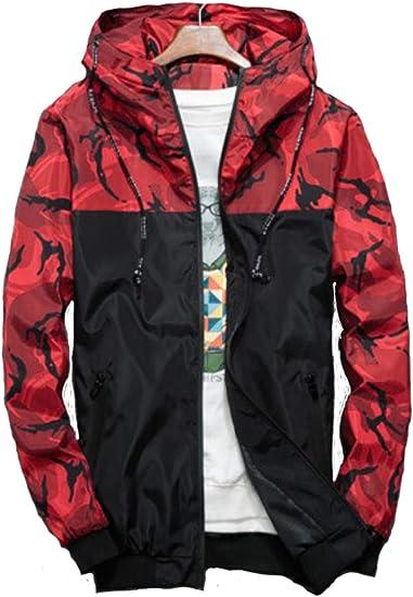 [Bekoo] 迷彩 ウィンドブレーカー フード付き メンズ ナイロン カモフラ 柄 アウトドア 防風 軽量 ジャケット