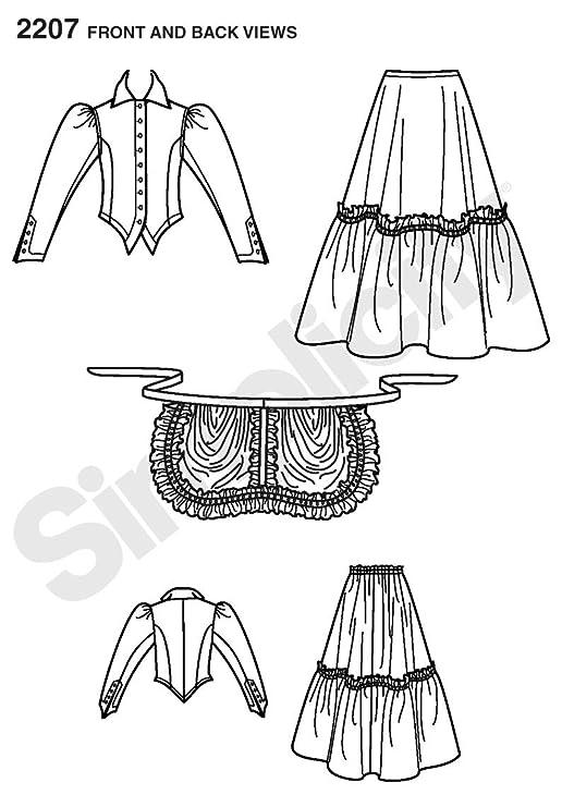 Simplicity 2207 RR - Patrones de costura para disfraces de época de ...