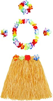BESTOYARD Conjunto de Disfraces de Hula Hawaiana para Niños ...