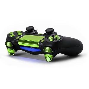 kwmobile Teclas de repuesto para Playstation 4 Dualshock en verde...