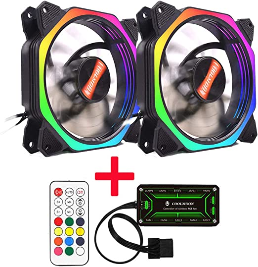 ZREAL Rainbow Lights RGB Ajustable Color Fan 12 cm LED Ordenador ...