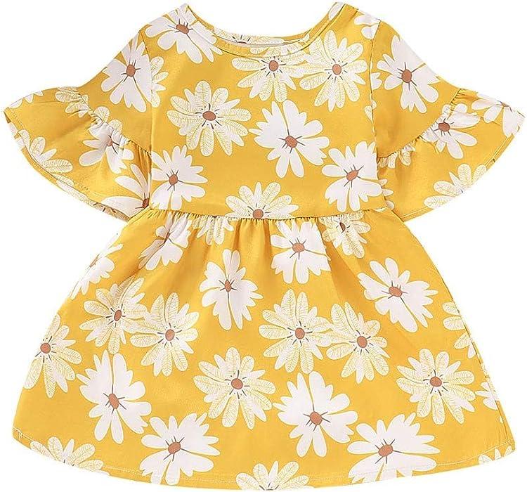a99796c6cefc Amazon.com  Jchen(TM) Baby Kids Little Girls Dress Floral Flowers ...