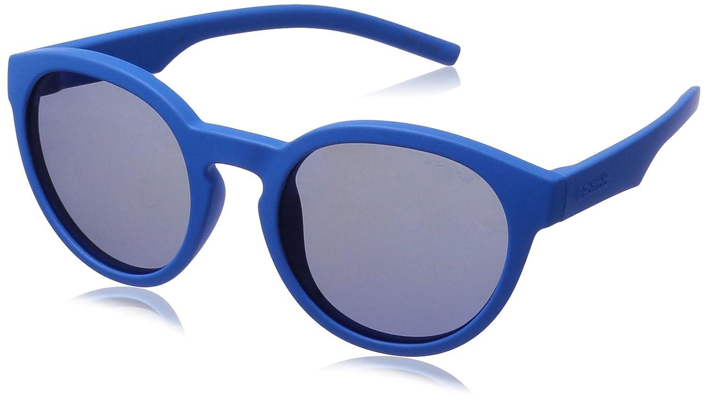 520f1254b2233 Amazon.com  Polaroid Sunglasses Kids  Pld8019s Round Sunglasses Gray Blue  Mirror Polarized