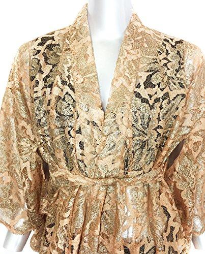 Zara Damen Long shiny lace kimono 5584/920