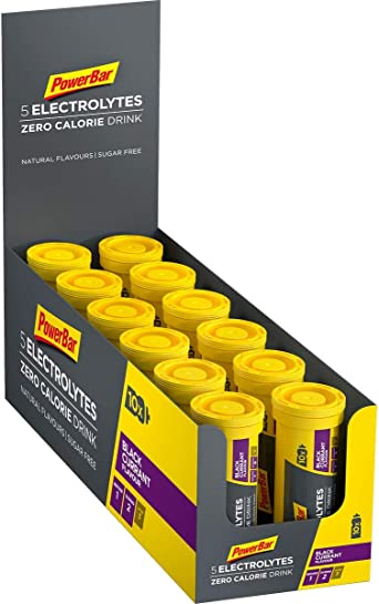 PowerBar 5 Electrolytes sin Cafeína 12 tubos x 10 tabletas ...