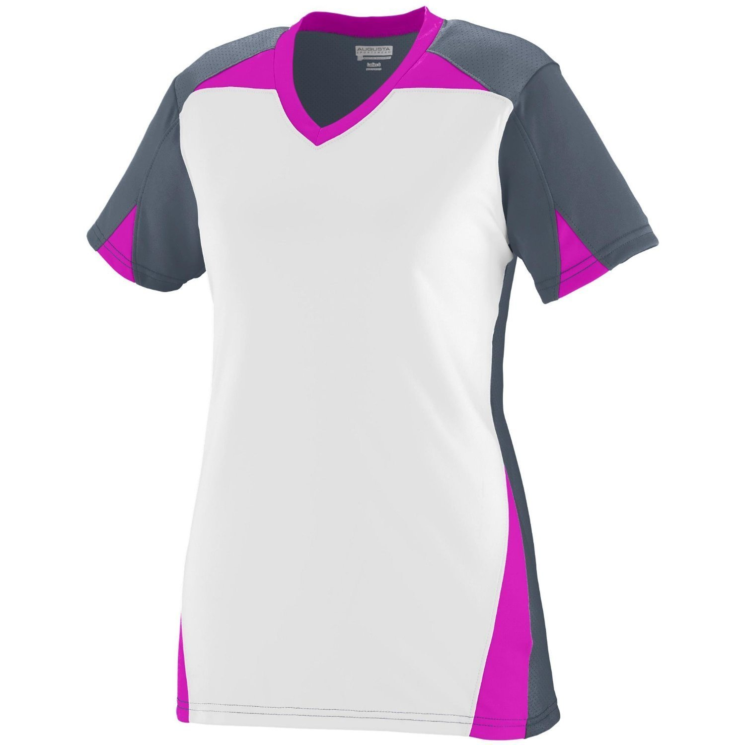 Augusta Sportswear Girls 'マトリックスJersey B00P540M3QGraphite/White/Power Pink Medium