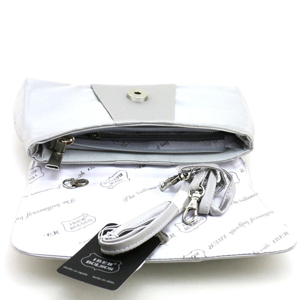 Iber Bolsos Satin Wedding Bridal Prom Evening Handbag Clutch Bag W1090