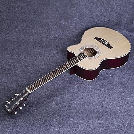 GFEI Ejercicios _ Basswood Cutaway guitarra guitarra principiante ...