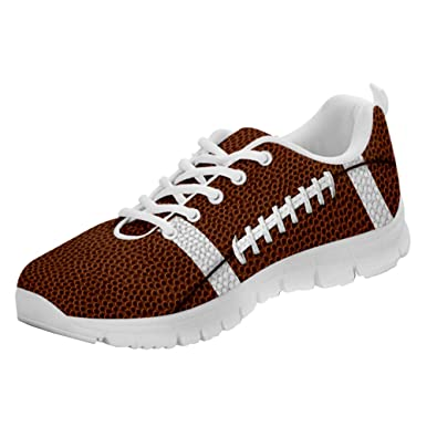 81b987aa4fc8 Printed Kicks American Football Skin Sneakers Sport Mom Shoes for Women (35  M EU