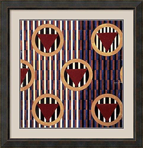 Red Triangles in Round 1923-1924 by Lyubov Sergeyevna Popova Framed