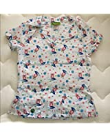 Crocs Medical Apparel Womens Owl Print Scrub Top Large
