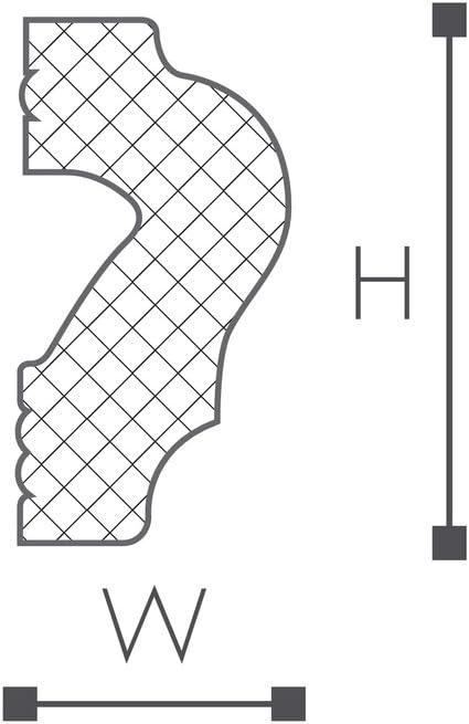 NMC Wallstyl Cimaise WL2 Polystyr/ène HD