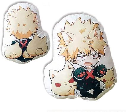 Amazon Com Futurecos My Hero Academia Bakugou Katsuki Cute Figure Plush Toy Pillows Anime Bnha Plushies Throw Pillows Boku No Hero Academia Back Cushions Plush Toys Gift For Girls Boys Toys Games