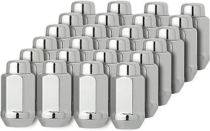 24 Chrome Acorn Bulge 14x1.5 thread Lug Nuts
