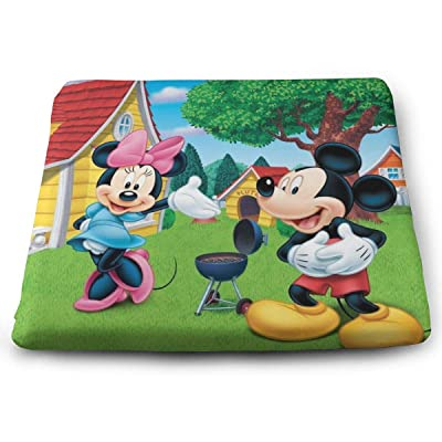 Cartoon Mickey Mouse Square Cushion Thick Large Soft Mat Floor Pillow Seating for Home Decor Garden Party for Chair Pads 15x13.7x1.2Inch: Office Products