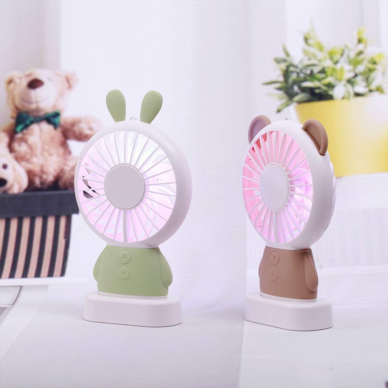 Mini USB Fan Portable Hand Fan with Night Light Battery Operated USB Power Handheld Fan Cooler Electric Fan for Home,K-F1-Gray
