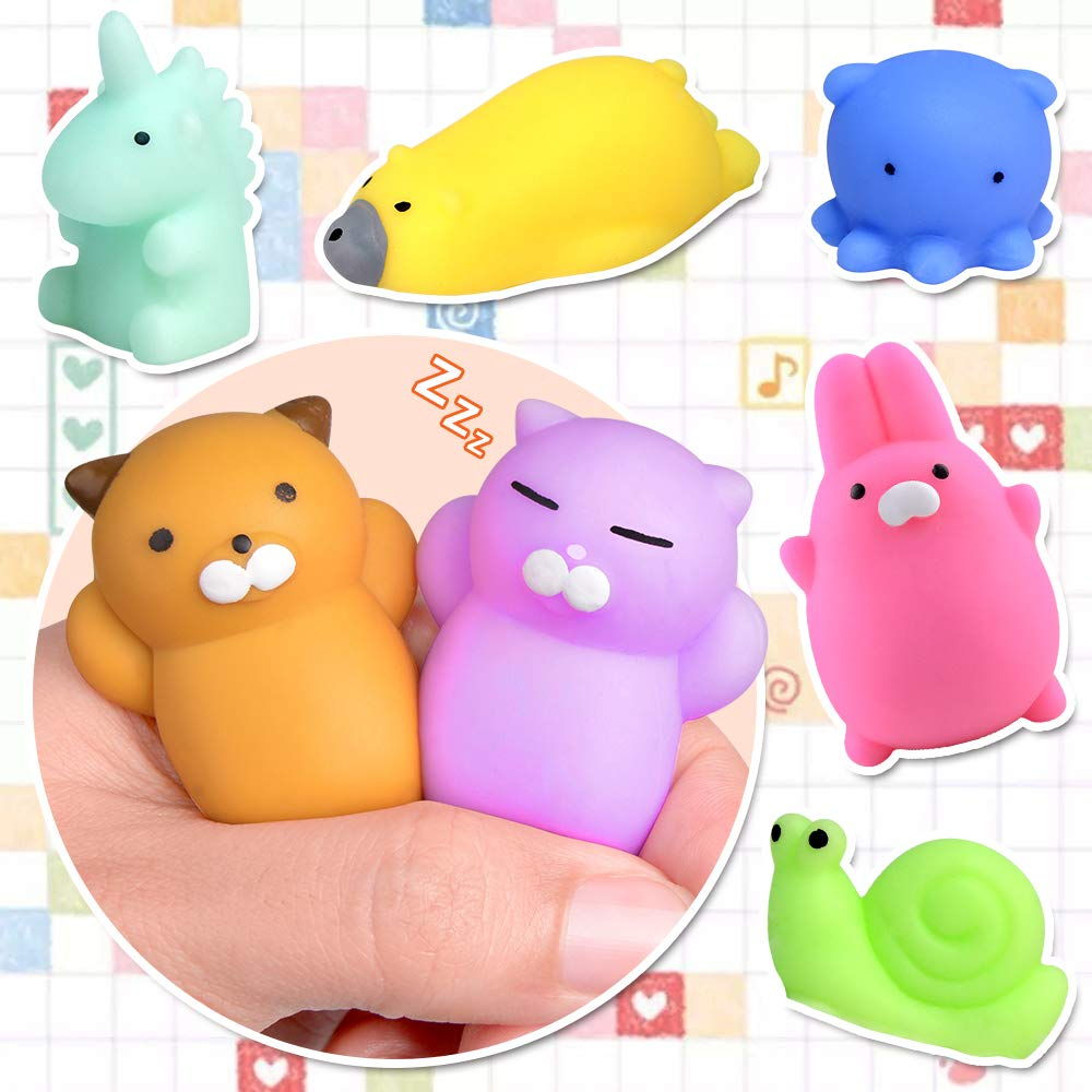 FLY2SKY 45Pcs Mochi Squishy Toys Mini Squishies Kawaii Animal Squishies Party Favors for Kids Cat Panda Unicorn Squishy Novelty Stress Relief Toys Birthday Gifts Goody Bags Class Prizes Pinata Fillers by FLY2SKY (Image #7)