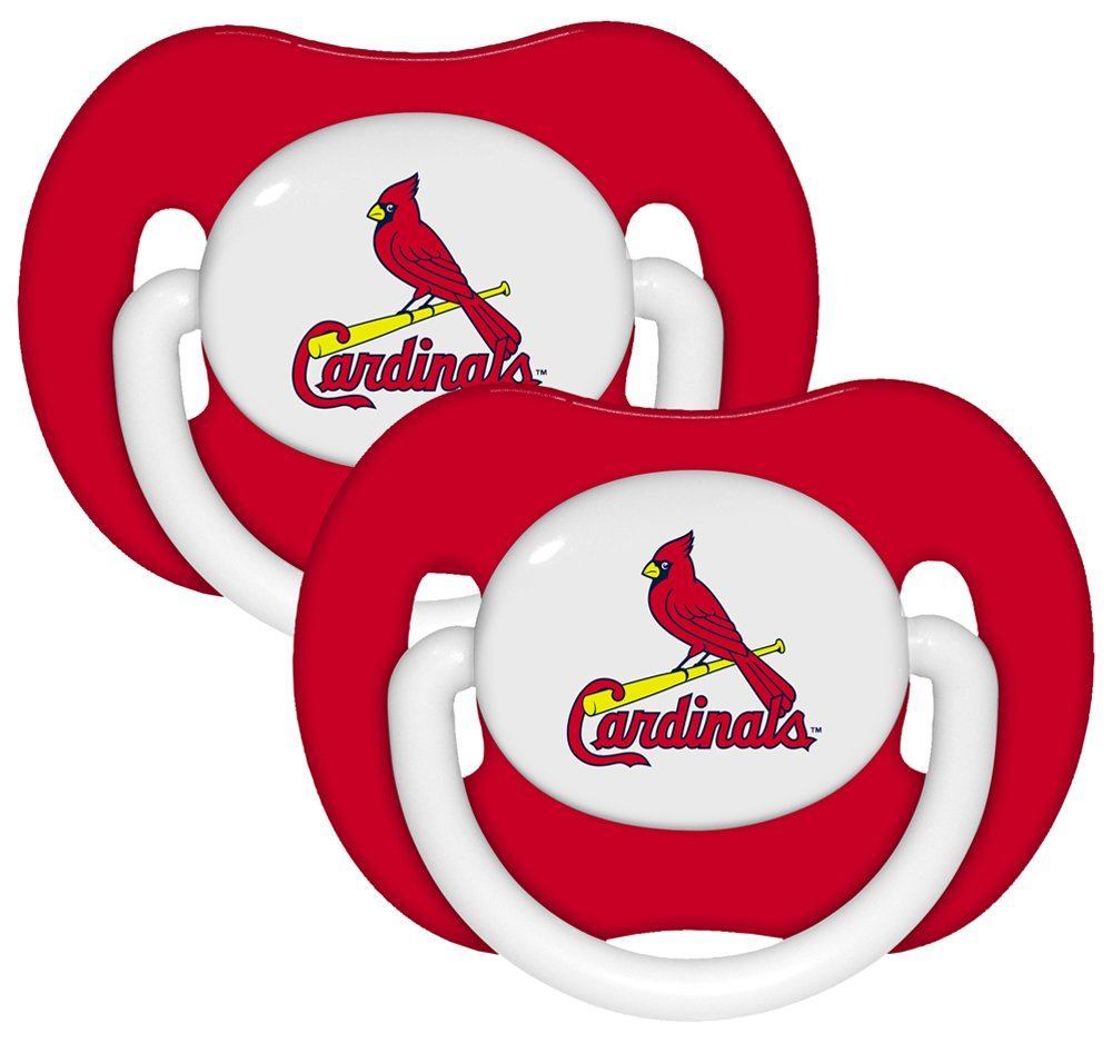 amazon com mlb st louis cardinals 2 pack pacifiers baby