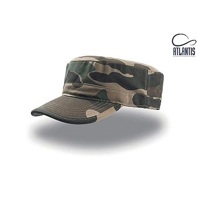 Atlantis - Gorra Militar de algodón Modelo Tank (Talla Única/Camuflaje)