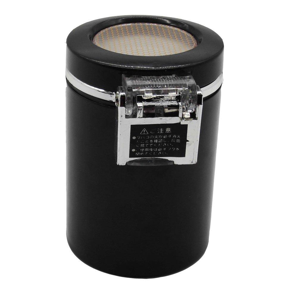 Mini KFZ Rauchende Zigarette Auto-Aschenbecher Multifunktionaler Edelstahl Metall St/ürmchenbecher mit Deckel und Blauer LED-Leuchte Rubyu Auto Aschenbecher