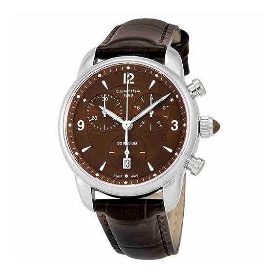 Certina - Reloj de Cuarzo para Mujer, correa de Cuero color Marrón