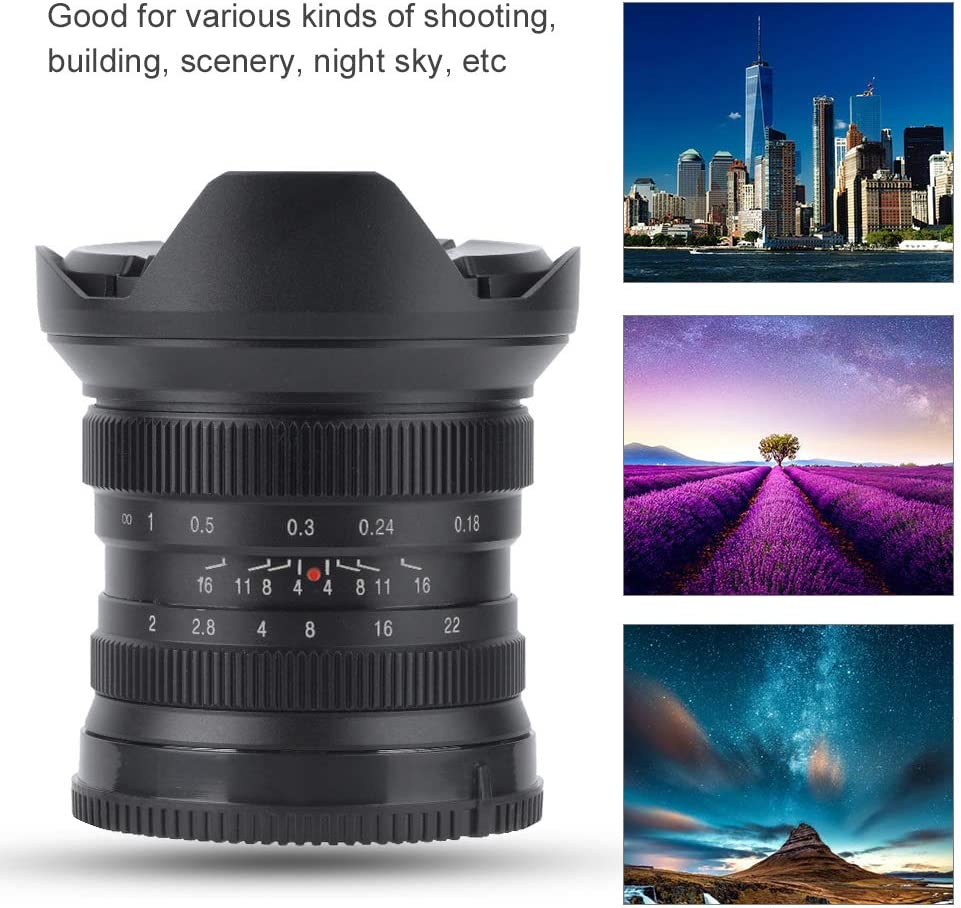 for Fujifilm FX 12mm f2.0 Super Wide Angle APS-C Metal Manual Focus Lens for Mirrorless Camera 97/° Wide Angle Micro Single Lens Vbestlife Super Wide Angle Lens
