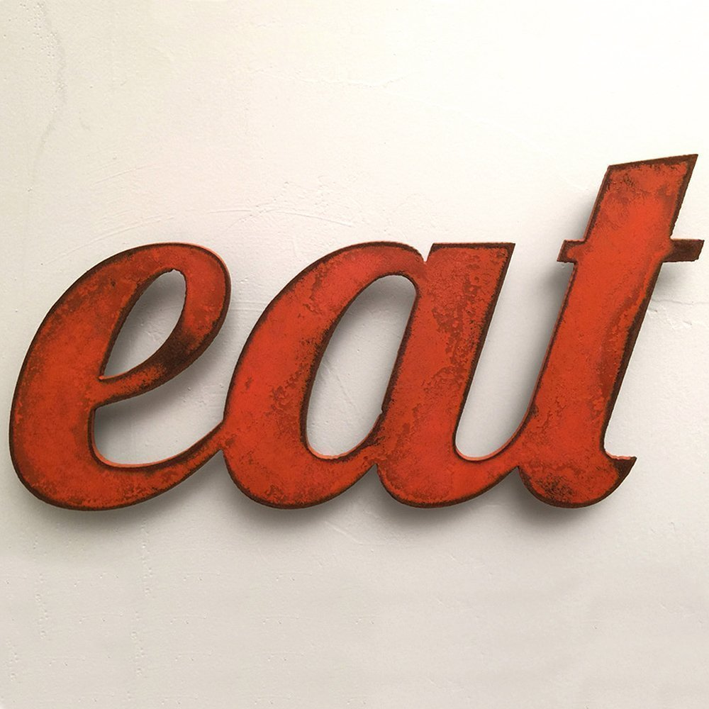 eat - Metal Wall Art home decor - Handmade - Choose 11