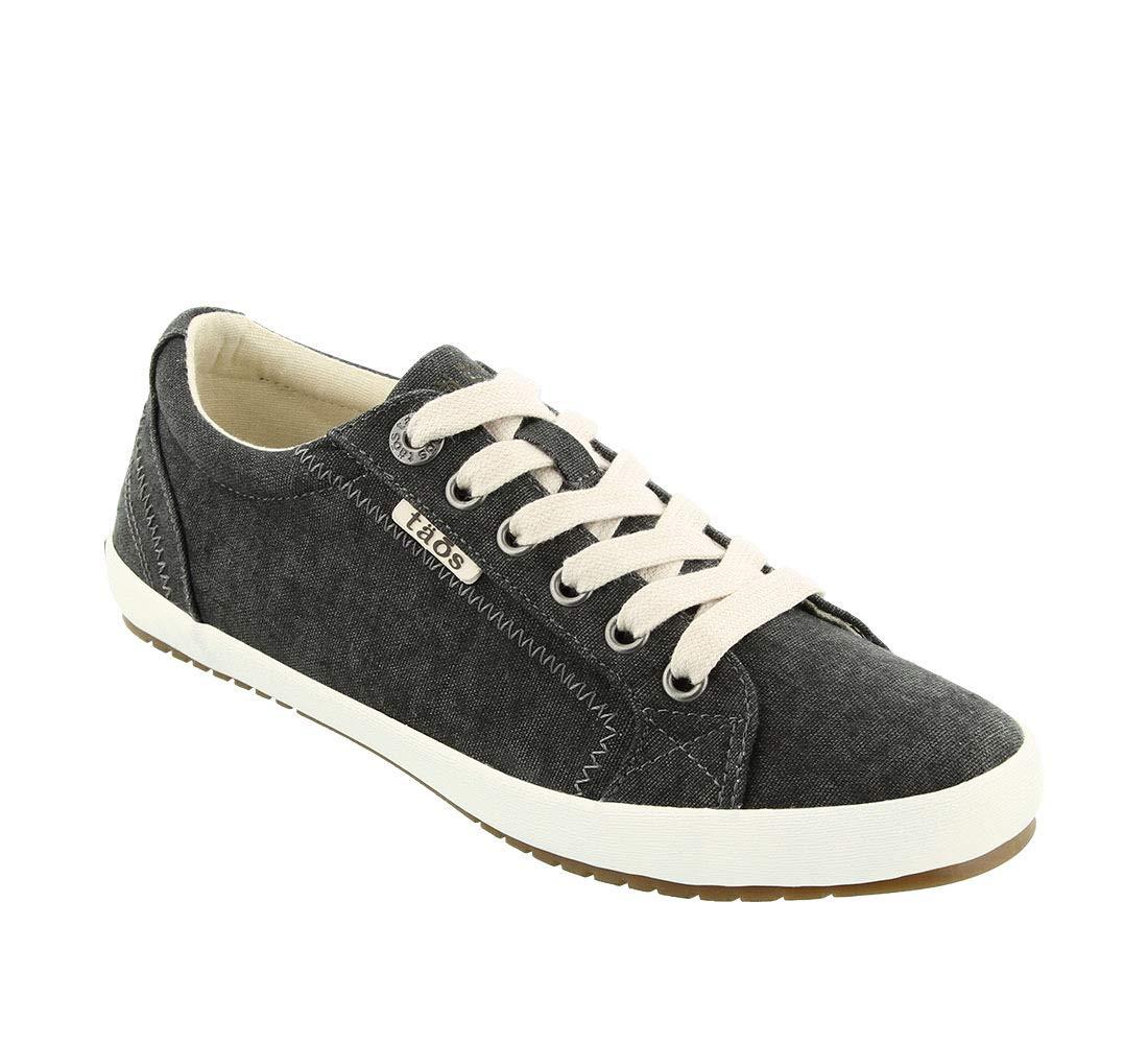 Taos Footwear Women's Star Charcoal Wash Canvas Sneaker 8 B (M) US