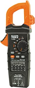 Klein Tools CL800 Digital Clamp Meter, Auto-Ranging True RMS, Low Impedance (LoZ) Mode, 600 Amp, Measures Volts, Temp, More, with Auto-Off