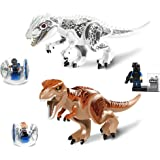 BestMind 恐竜 フィギュアセット ティラノサウルス 2体 人物 ブロック 模型 手足可動 口開閉可 遊べるおもちゃ