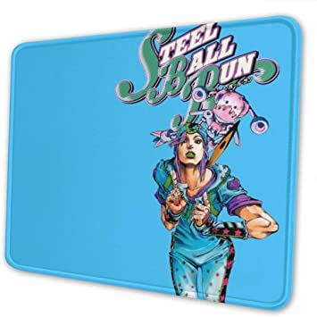Johnny Joestar Gyro Zeppeli Mouse Pad Anti Slip Gaming Mouse Pad with Stitched Edge Computer PC Mousepad Rubber Base for Office Home