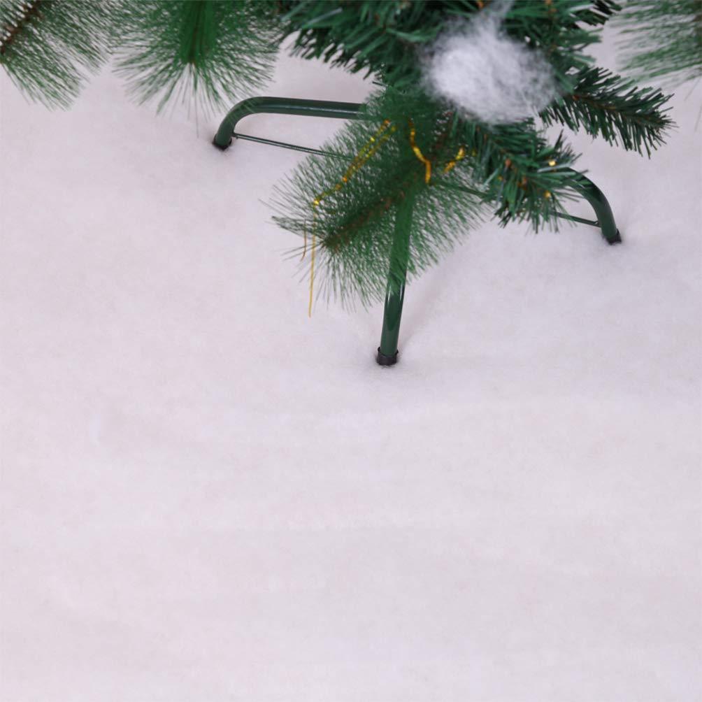 Amosfun 2 m Weihnachtsschnee-Decke Schnee Abdeckung Weihnachten K/ünstliche Schnee Tischl/äufer Kunstschnee Deko f/ür Weihnachten Shopping Mall