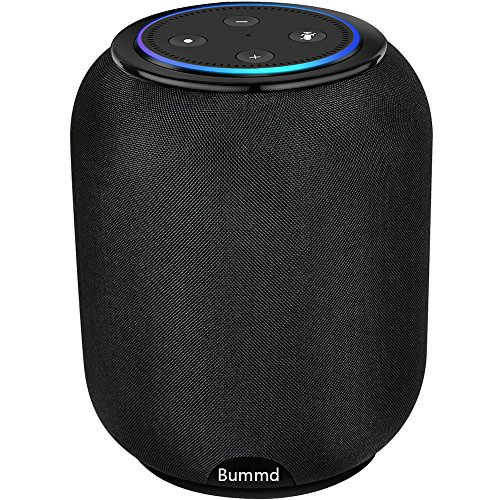 Bummd Portable Wireless Speaker for Amazon Echo Dot 2nd Generation Cordless Alexa Speaker with Battery Base 20W Powerful Stereo Sound Built-in with 3 Horns 2.1 Channel Smart Home Speaker