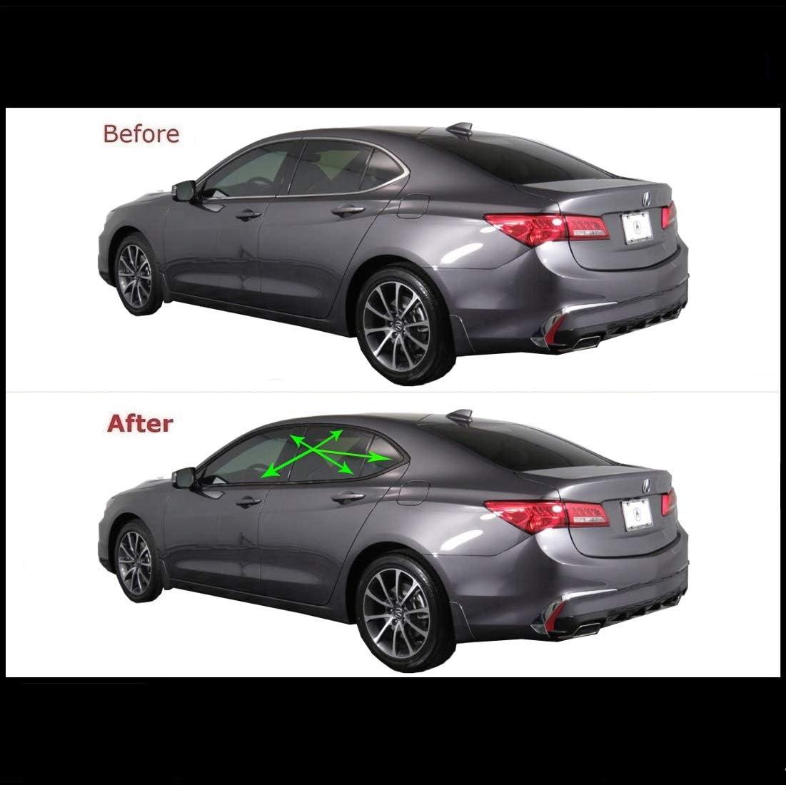 Chrome Delete Vinyl Kit Blackout Trim Overlay for 2015-20 Acura TLX Window Trim Matte Black