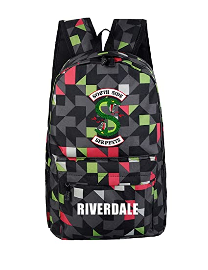 Riverdale 2 South Side Serpents Backpack Teenagers Schoolbag Casual Laptop Bags