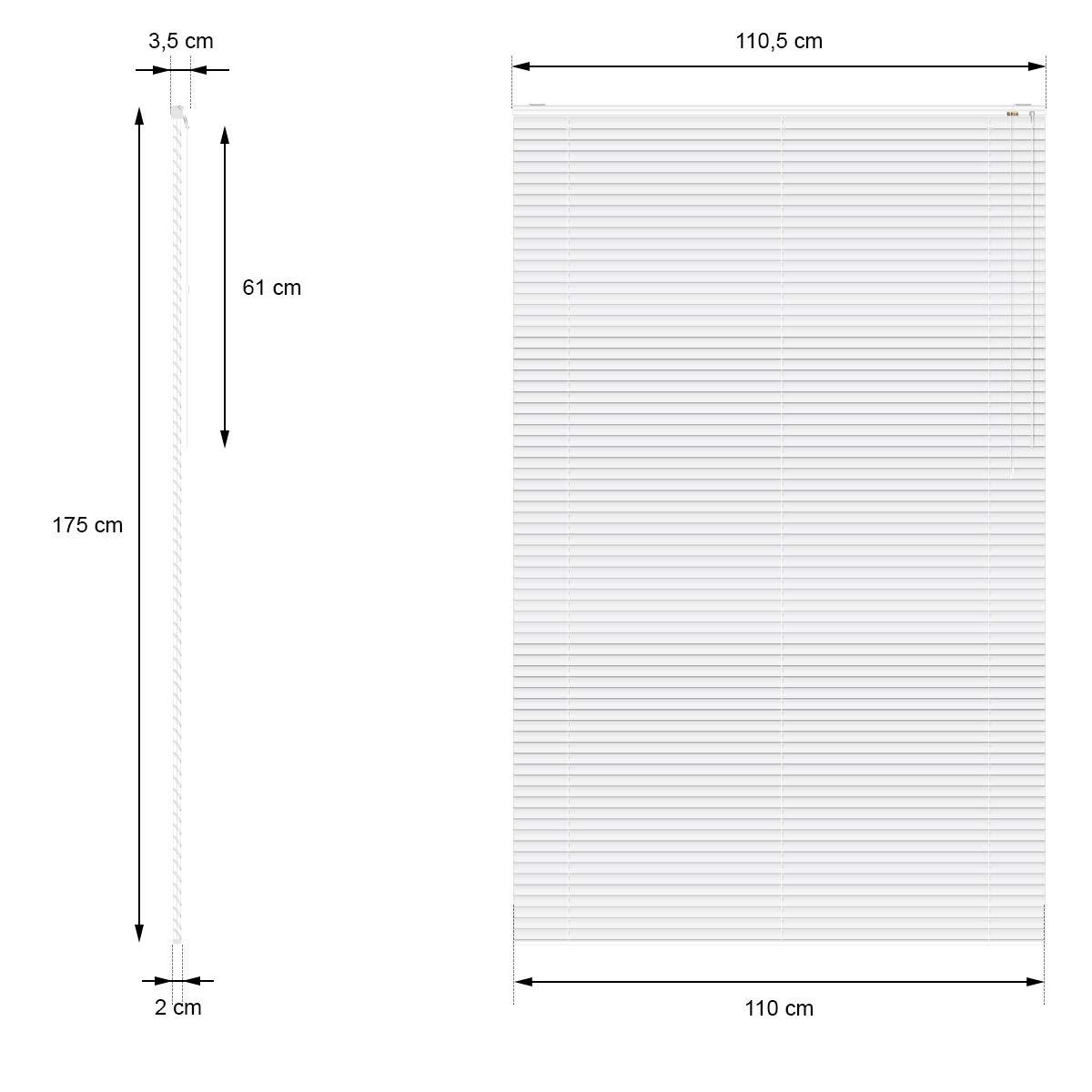 alle Montageteile Aluminium Fensterjalousie Jalousette Rollo inkl ECD Germany Alu Jalousie 140 x 175 cm Wei/ß Sicht- f/ür Fenster und T/ür Licht- und Blendschutz Aluminiumlamellen