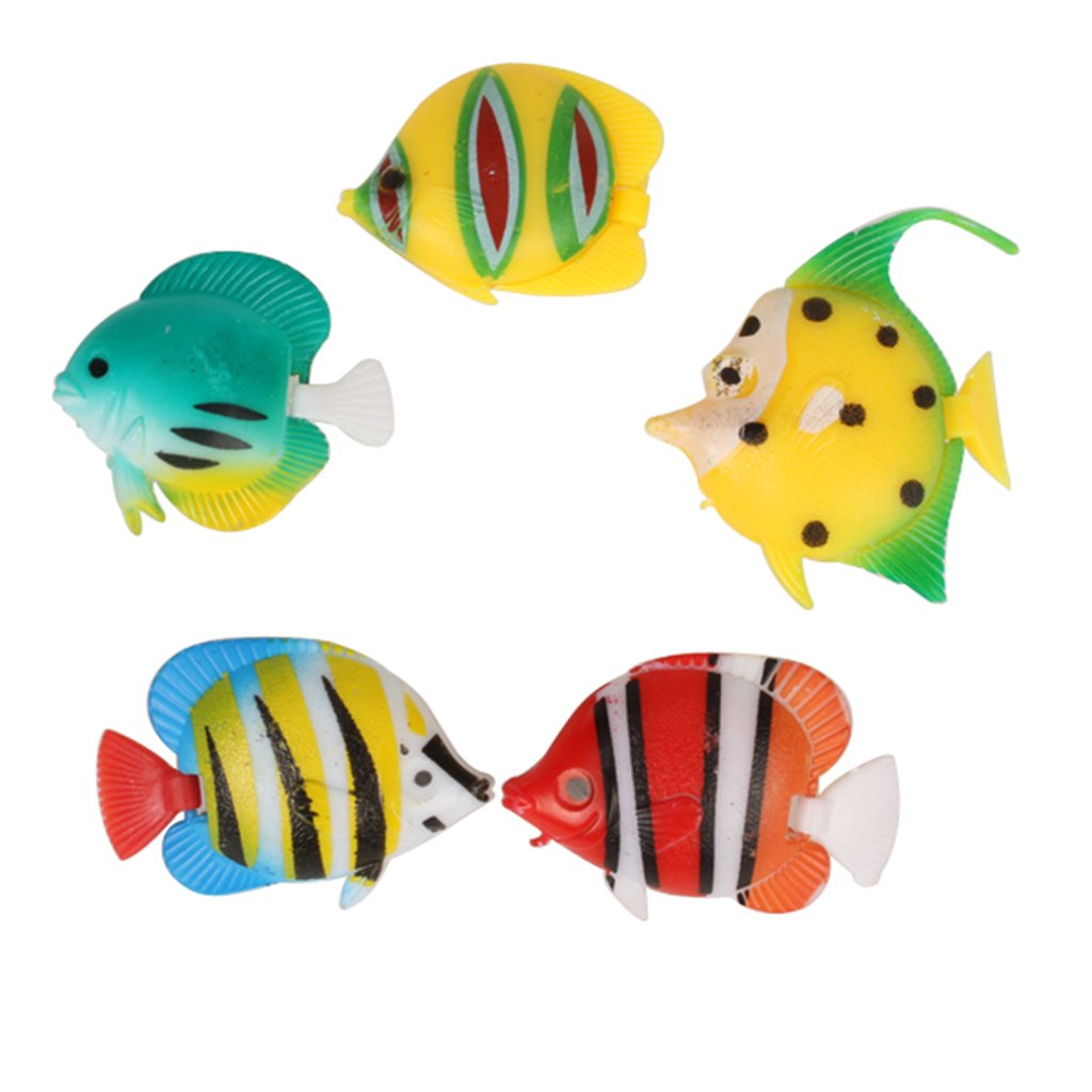 Amazon.com : LOVIVER Plastic Fish Floating Fish 5pcs Artificial Fishes Ornament Decorations for Aquarium : Pet Supplies
