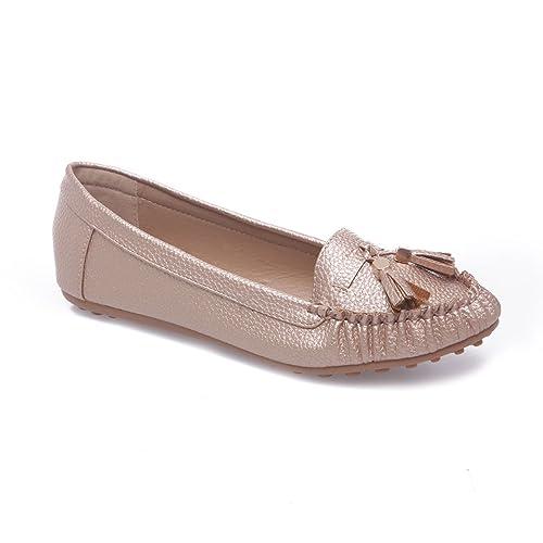 La Modeuse - Mocasines para mujer, dorado (dorado), 36: Amazon.es: Zapatos y complementos