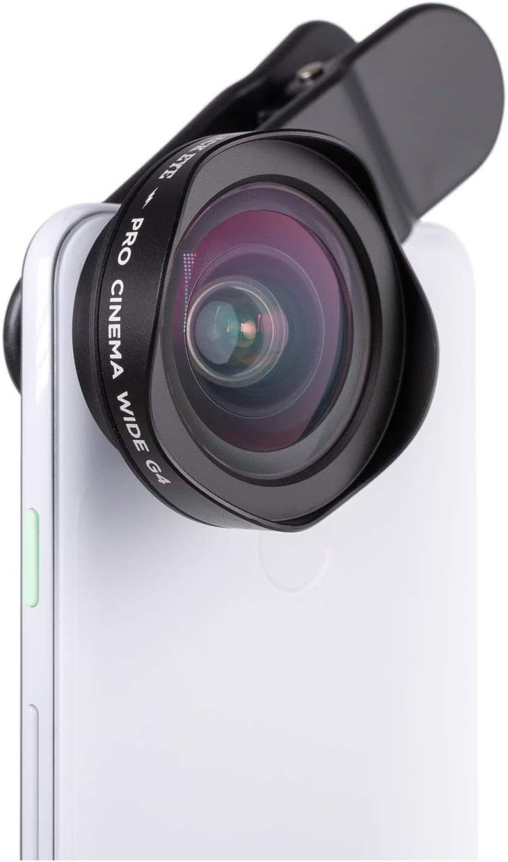 Phone Lenses by Black Eye || Pro Cinema Wide G4 Phone Camera Lens Compatible with iPhone, iPad, Samsung Galaxy, and All Camera Phone Models - G4CW001